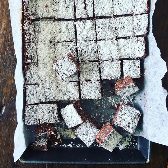 Chocolate Lamington Slice