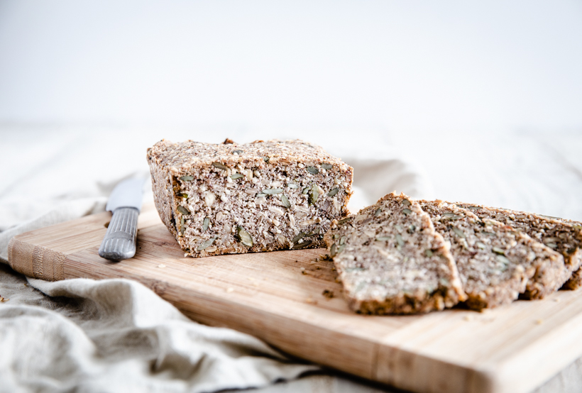Hemp, Pumpkin & Sunflower Seed Bread – Vegan
