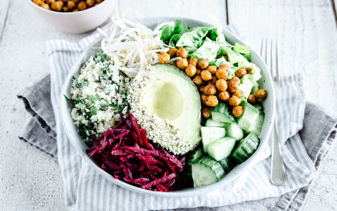 Crispy Chickpea & Lemon Parsley Rice Nourish Bowl